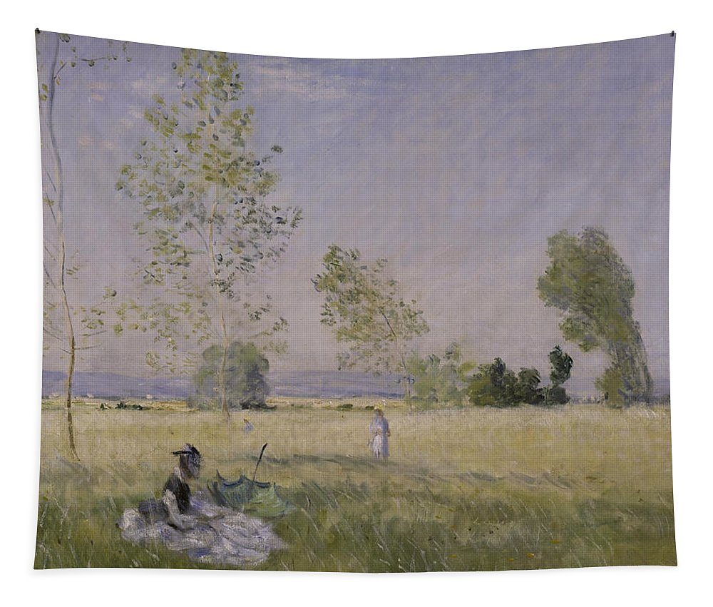 Claude Monet Tapestry featuring the painting Summer by Claude Monet