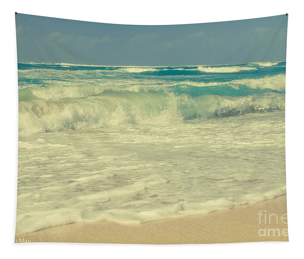 Aloha Tapestry featuring the photograph The Beach by Sharon Mau