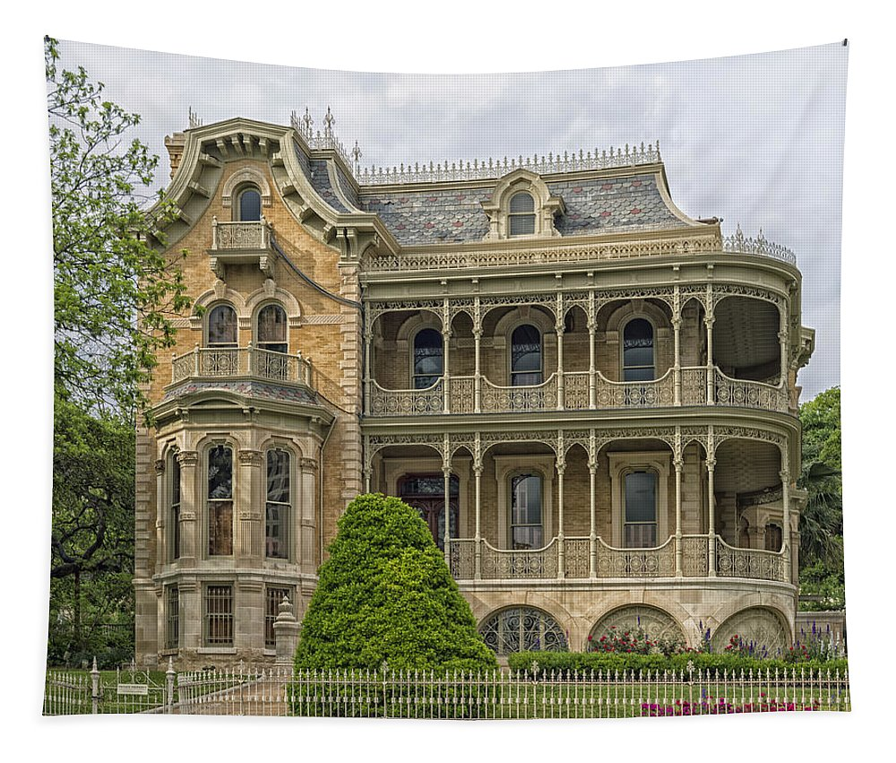 John Bremond Jr. House Tapestry featuring the photograph The Bremond House by Mountain Dreams