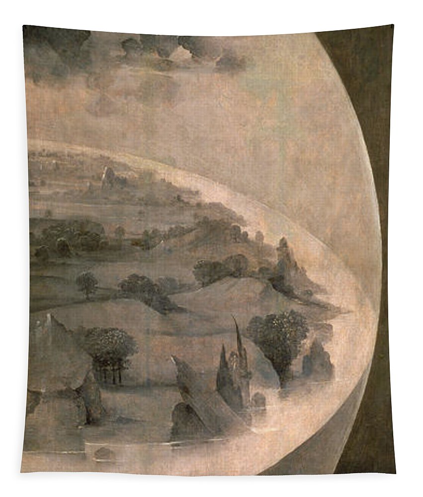 Hieronymus Bosch Tapestry featuring the painting The Creation Of The World by Hieronymus Bosch
