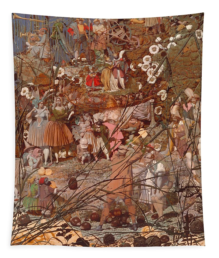 Painting Tapestry featuring the painting The Fairy Feller's Master Stroke by Mountain Dreams