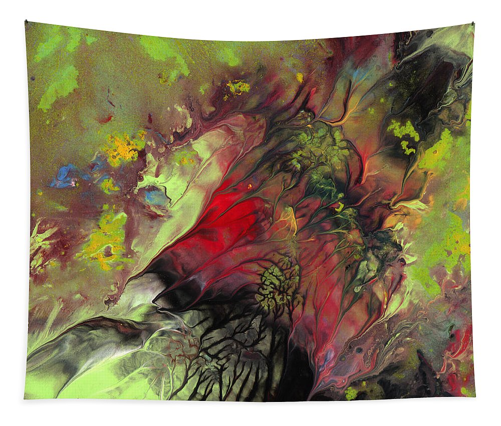 Abstract Tapestry featuring the painting The Heart Of Nature by Miki De Goodaboom