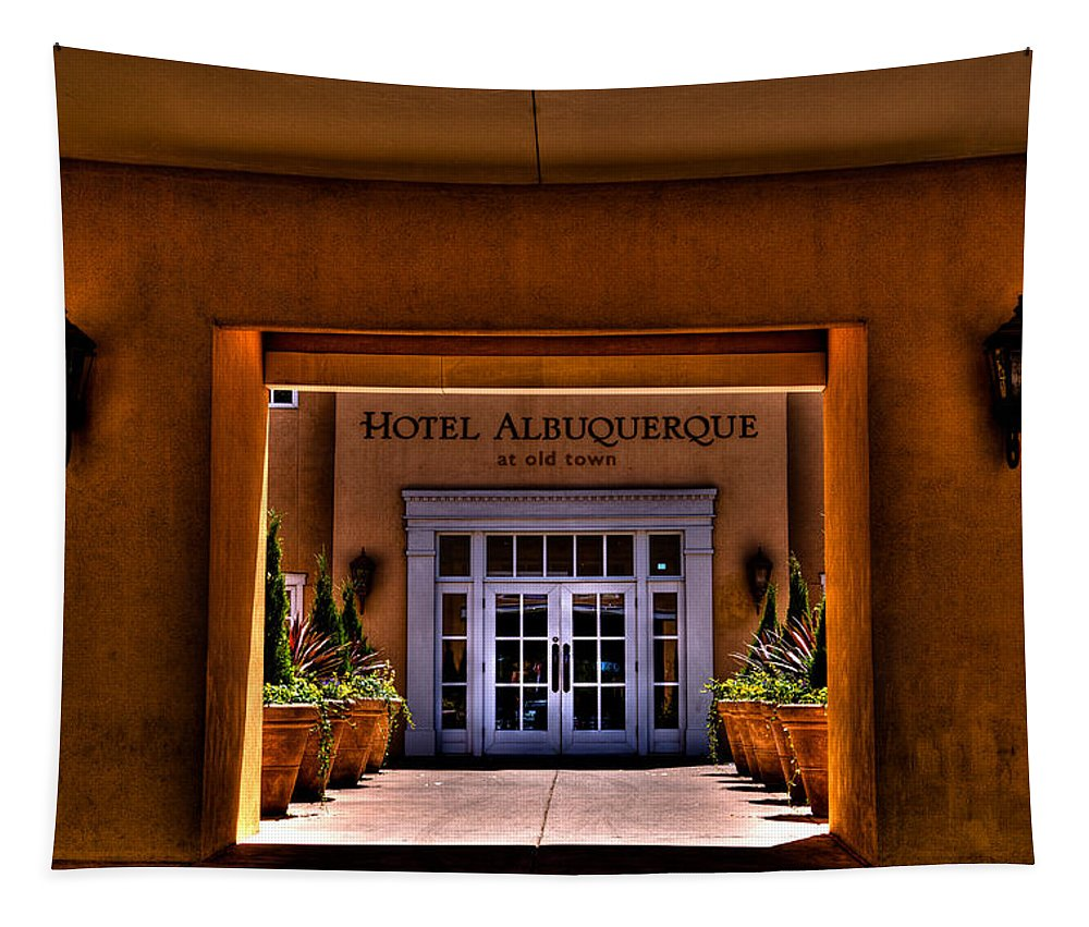 Hotel Albuquerque Tapestry featuring the photograph The Hotel Albuquerque by David Patterson