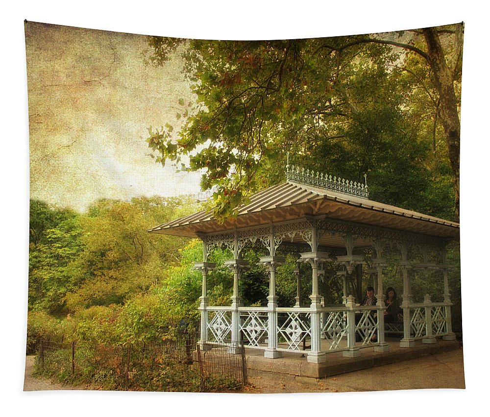 Central Park Tapestry featuring the photograph The Ladies Pavilion by Jessica Jenney