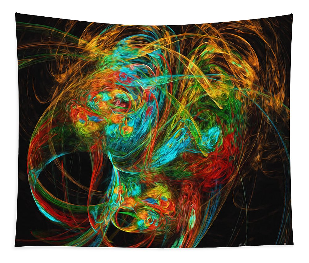 Andee Design Abstract Tapestry featuring the digital art The Mask by Andee Design