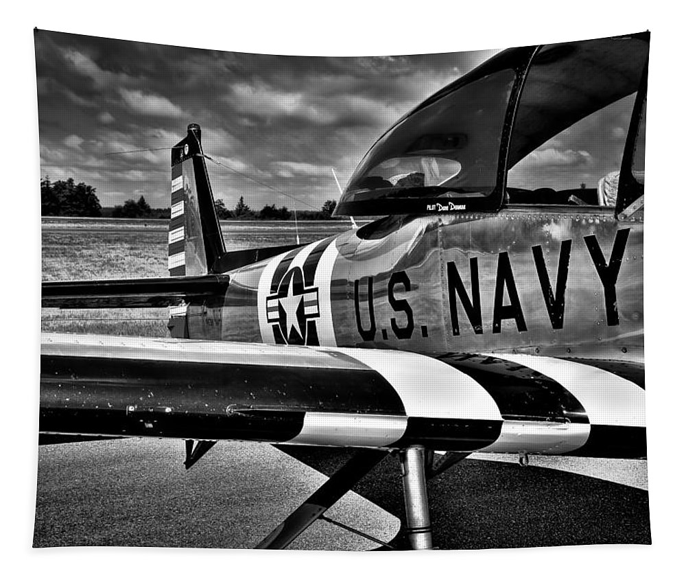 L-17 Navion Tapestry featuring the photograph The North American L-17 Navion Aircraft by David Patterson