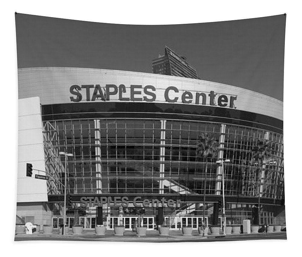 Staples Center Tapestry featuring the photograph The Staples Center by Mountain Dreams