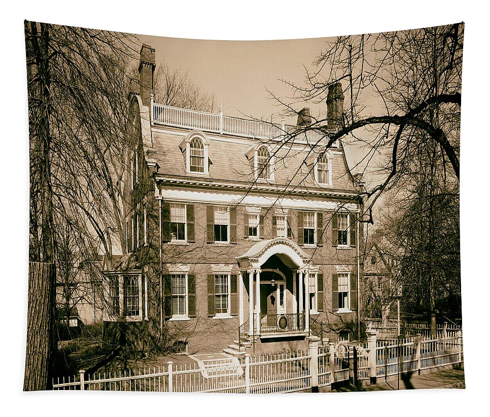 1958 Tapestry featuring the photograph The Taft House - Brown University 1958 by Mountain Dreams