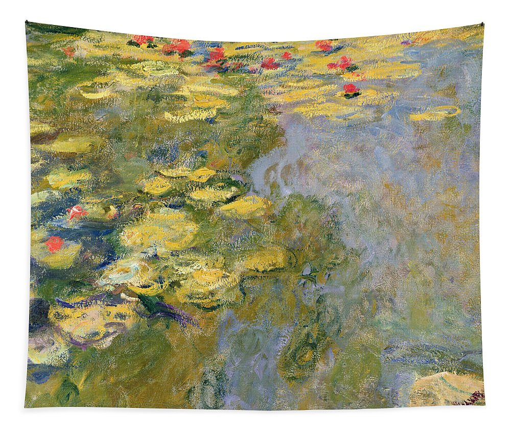 Impressionist Tapestry featuring the painting The Waterlily Pond by Claude Monet