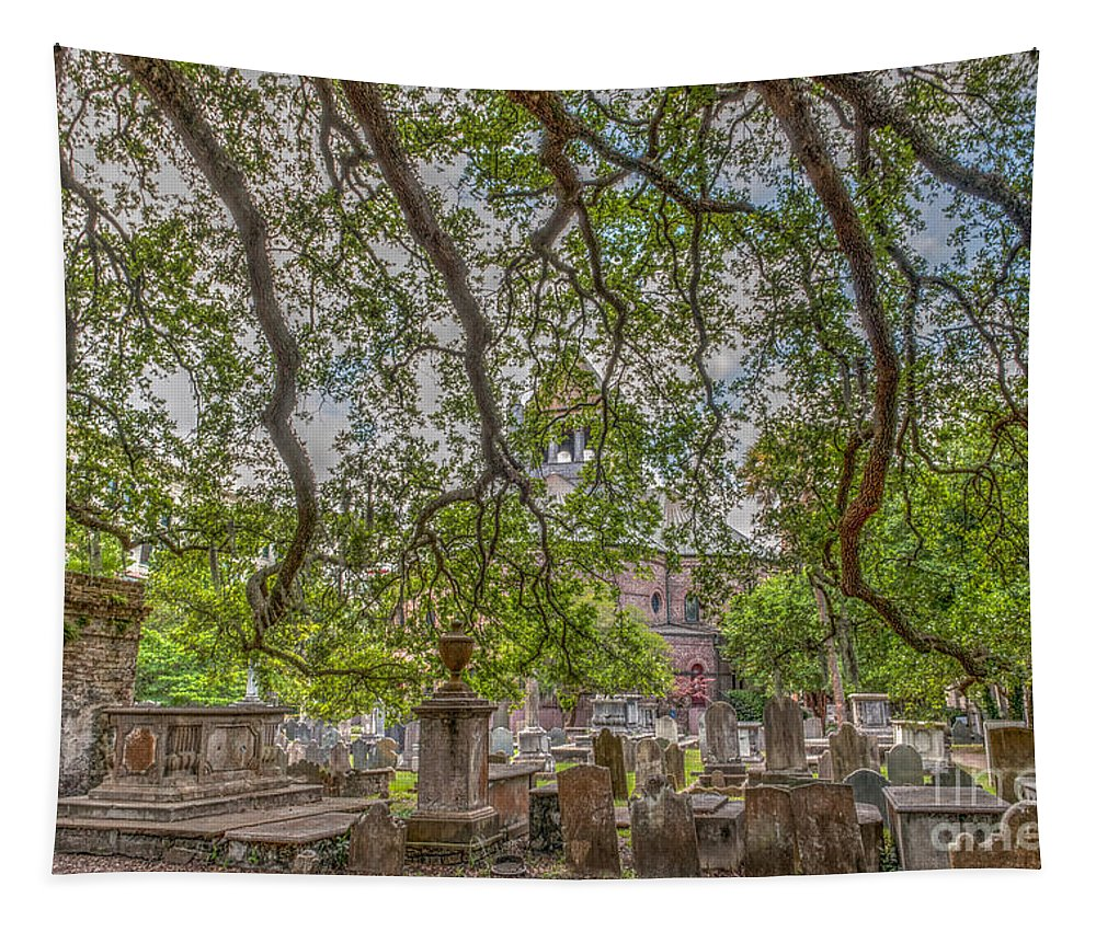 Circular Congregational Church Tapestry featuring the photograph Time Past by Dale Powell