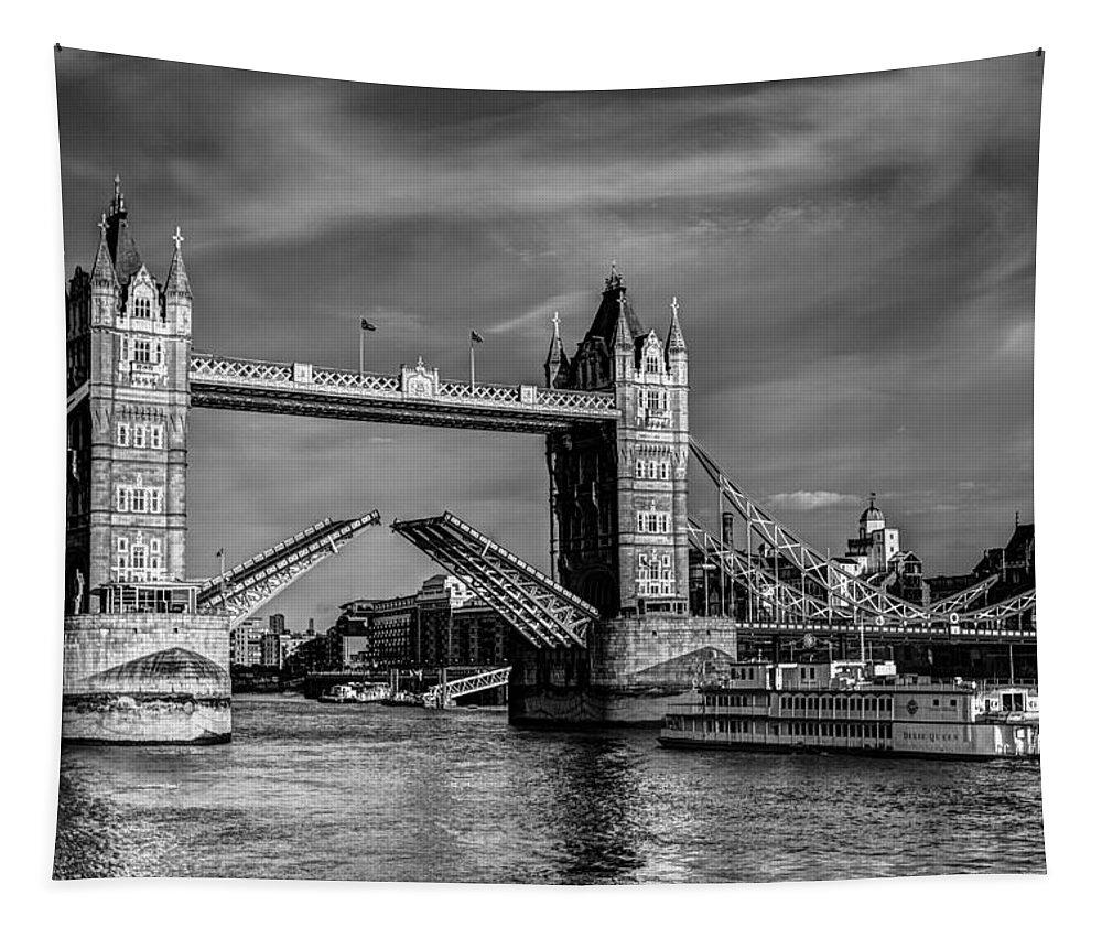 Tower Bridge Tapestry featuring the photograph Tower Bridge Vintage by David Pyatt