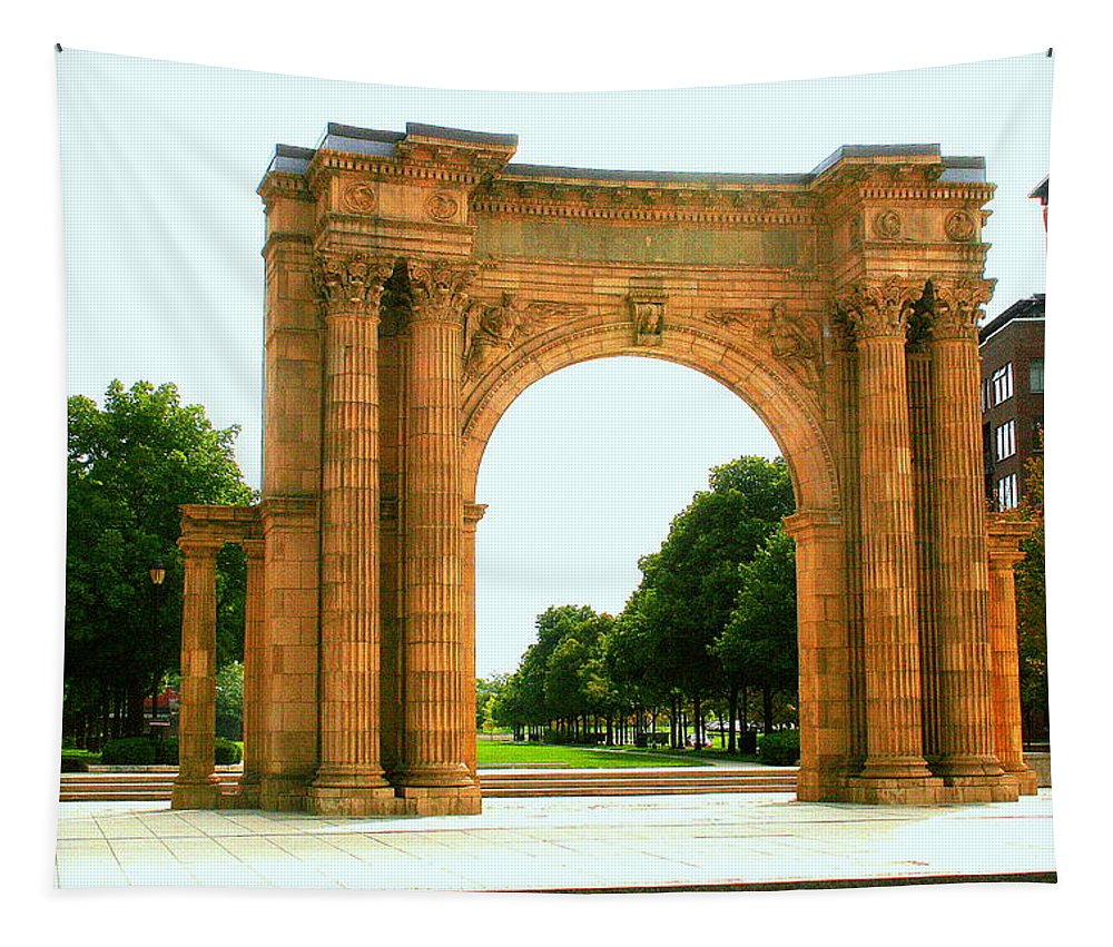 Arch Tapestry featuring the photograph Union Station Arch by Laurel Talabere