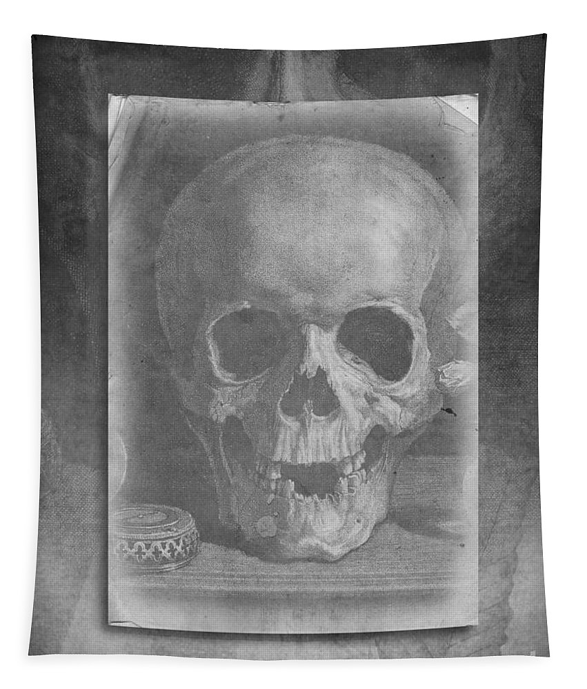 Skull Tapestry featuring the photograph Untitled Skull by Edward Fielding