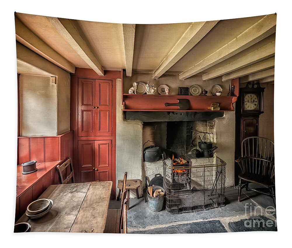 British Tapestry featuring the photograph Victorian Cottage by Adrian Evans