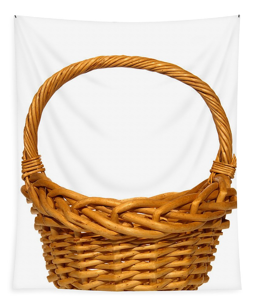 Basket Tapestry featuring the photograph Wicker Basket Number Eleven by Olivier Le Queinec