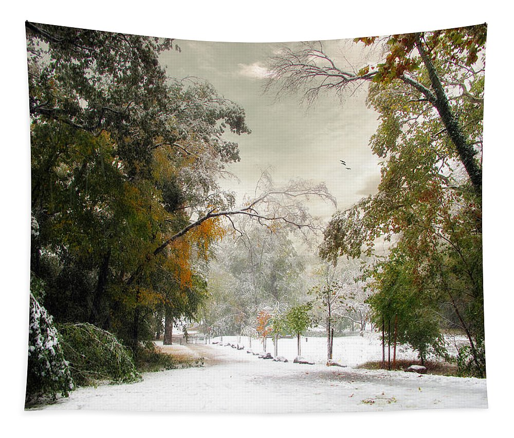 Winter Tapestry featuring the photograph Winter In Autumn by Jessica Jenney