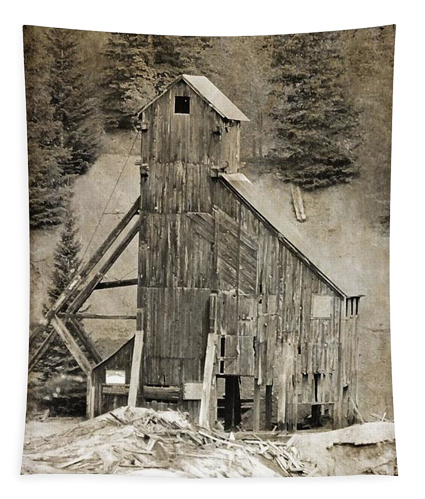 Yankee Girl Mine Tapestry featuring the photograph Yankee Girl Mine by Dan Sproul