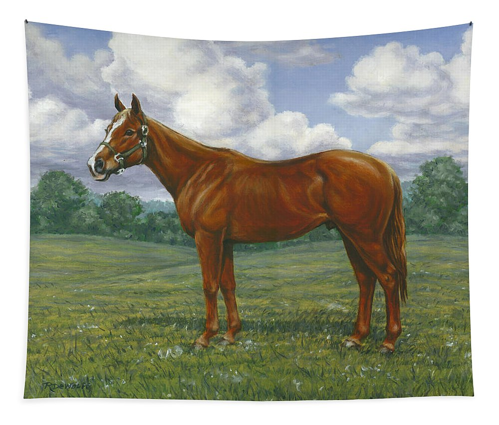 Equestrian Tapestry featuring the painting Ziggy by Richard De Wolfe