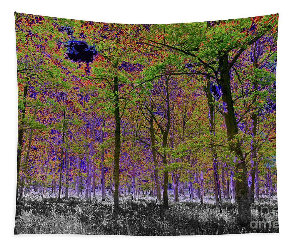 Tree Tapestry featuring the digital art Forest Art by David Pyatt