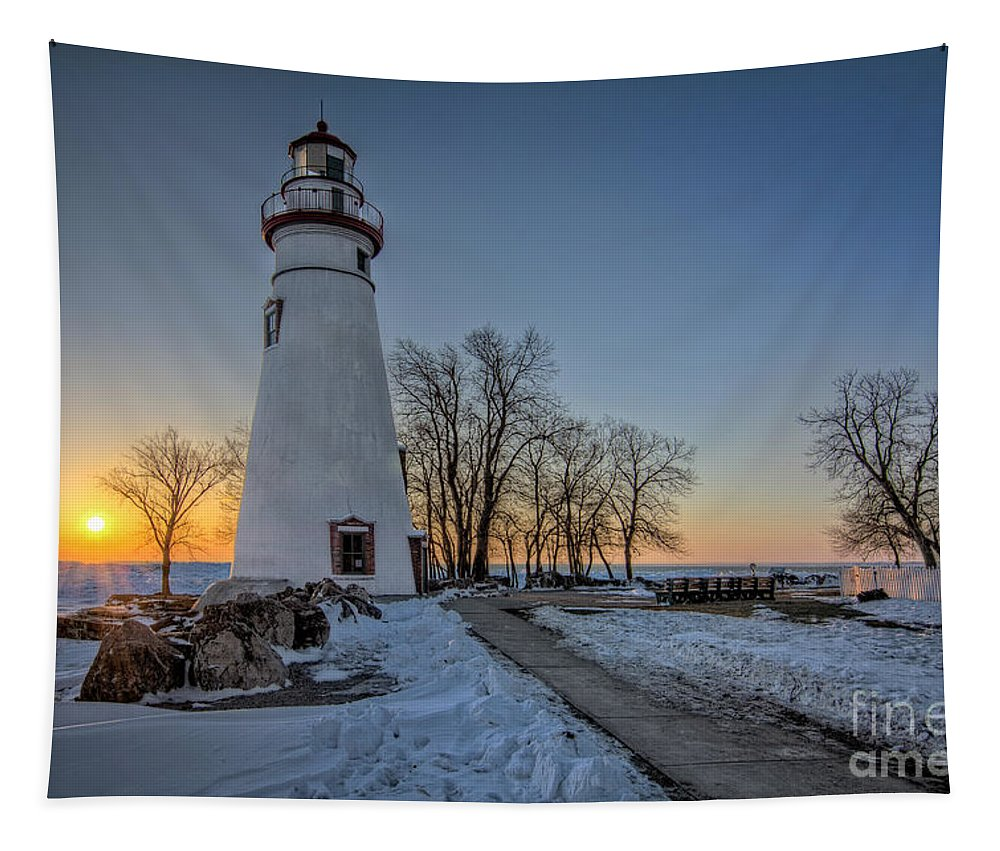 Lighthouse Tapestry featuring the photograph Marblehead Lighthouse by Michael Shake