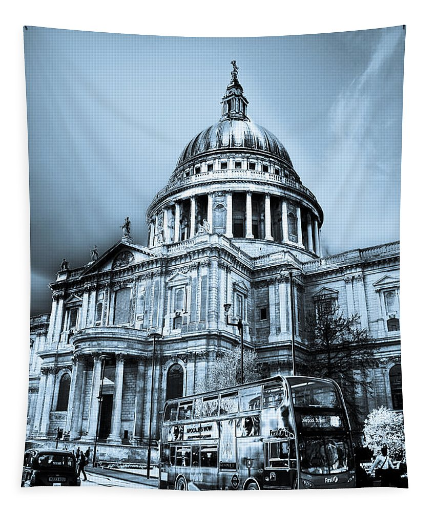 St Pauls Tapestry featuring the digital art St Paul's Cathedral London Art by David Pyatt