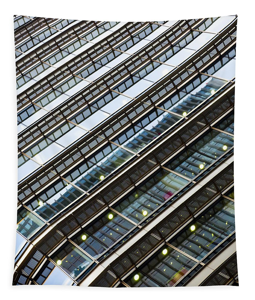 Canary Wharf Tapestry featuring the photograph Canary Wharf London Abstract by David Pyatt