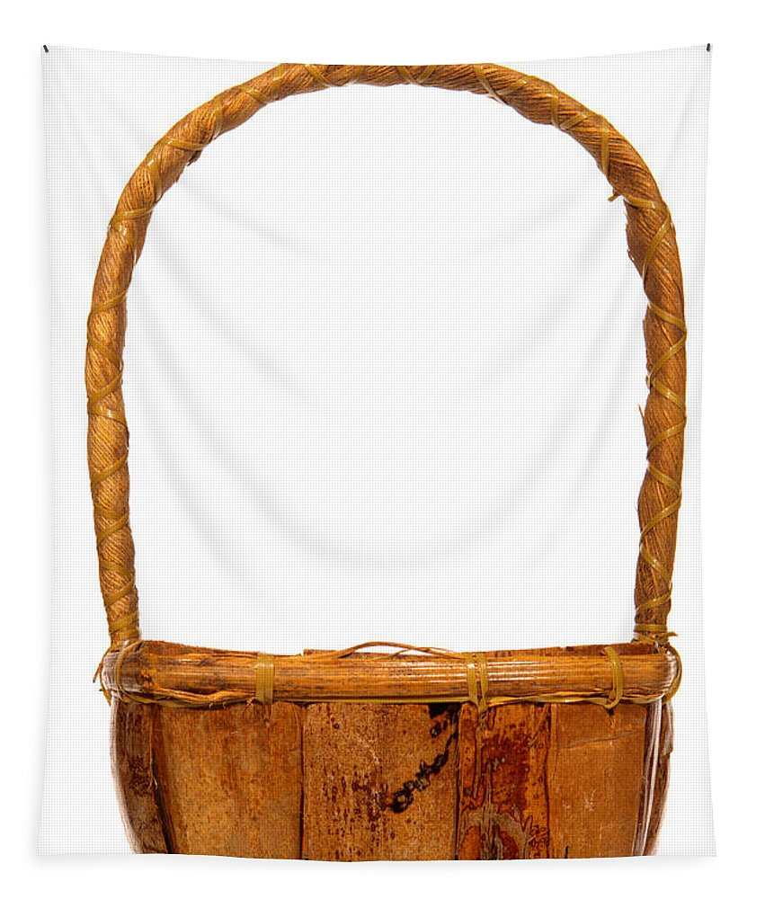 Basket Tapestry featuring the photograph Wicker Basket Number Two by Olivier Le Queinec