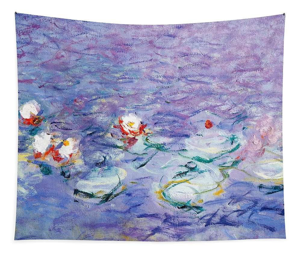 Art; Painting; 20th Century; Europe; France; Monet Claude; Impressionism Tapestry featuring the painting Water Lilies by Claude Monet