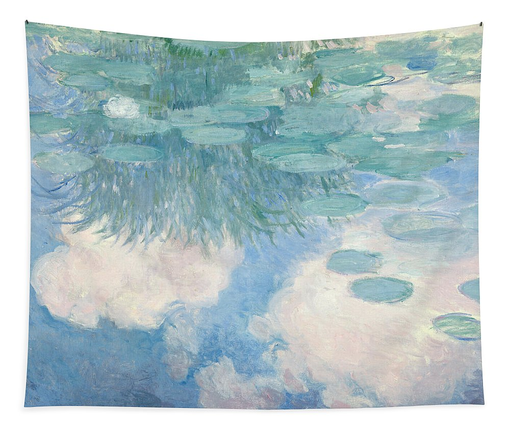 Claude Monet Tapestry featuring the painting Waterlilies by Claude Monet