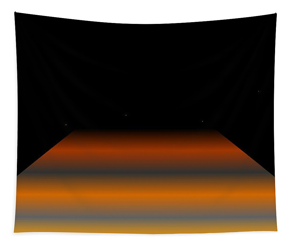 Abstract Digital Algorihm Rithmart Tapestry featuring the digital art 16x9.11 by Gareth Lewis