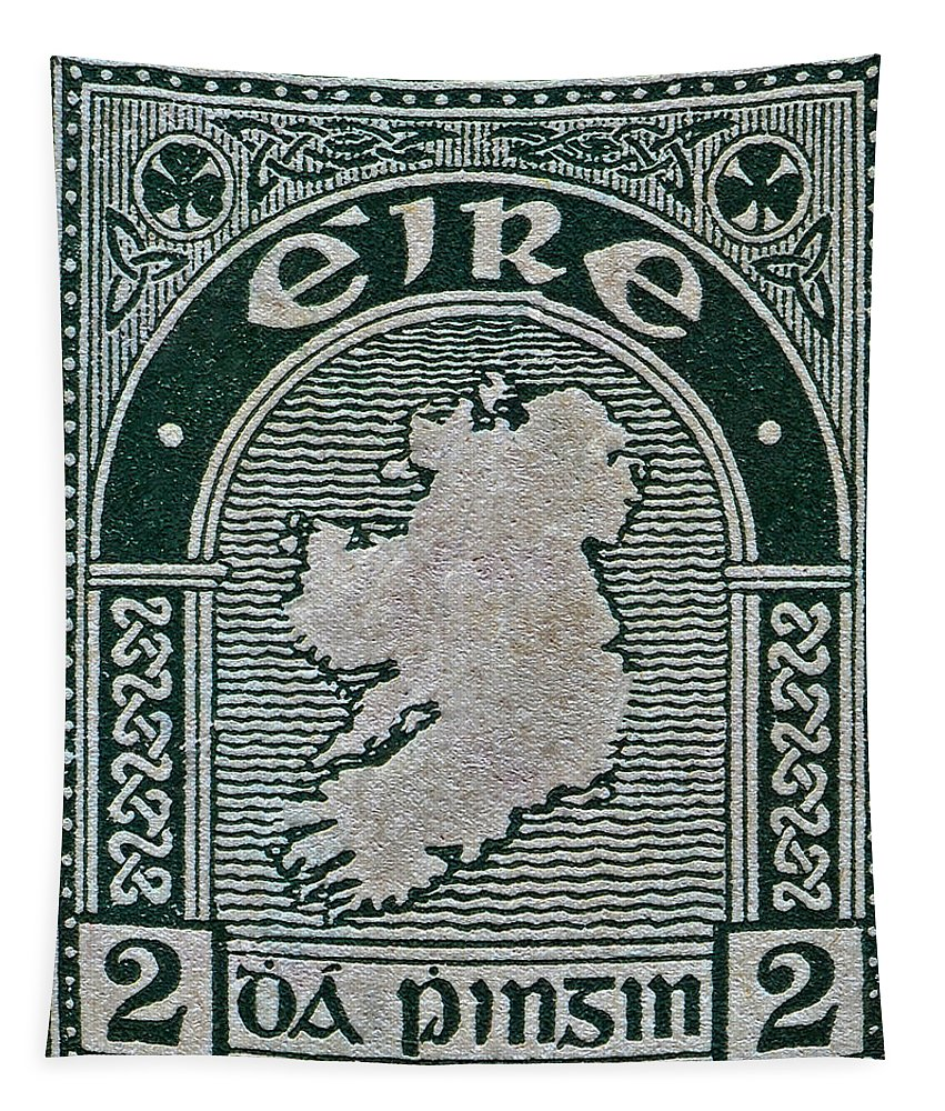 1922 Tapestry featuring the photograph 1922 Ireland Eire Stamp by Bill Owen
