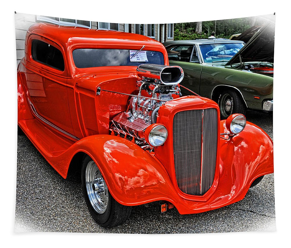 Car Tapestry featuring the photograph 1935 Chevy Coupe by Mike Martin