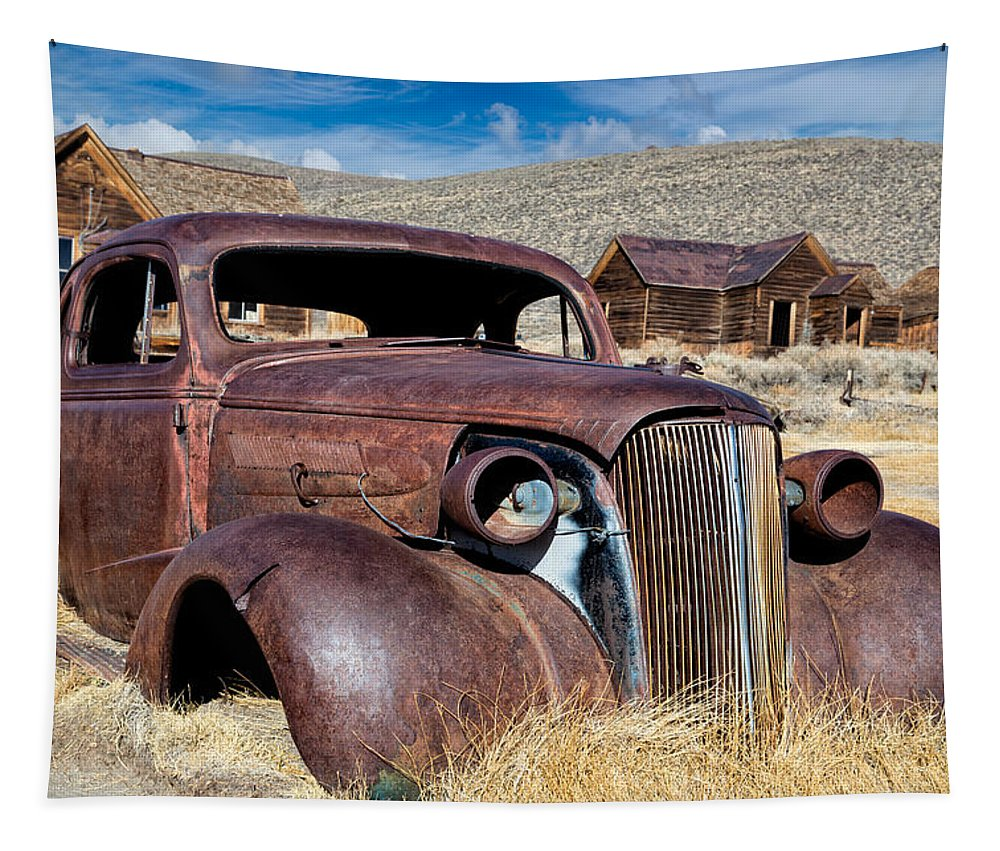 Bodie Tapestry featuring the photograph 1937 Chevrolet Coupe At Bodie by Kathleen Bishop
