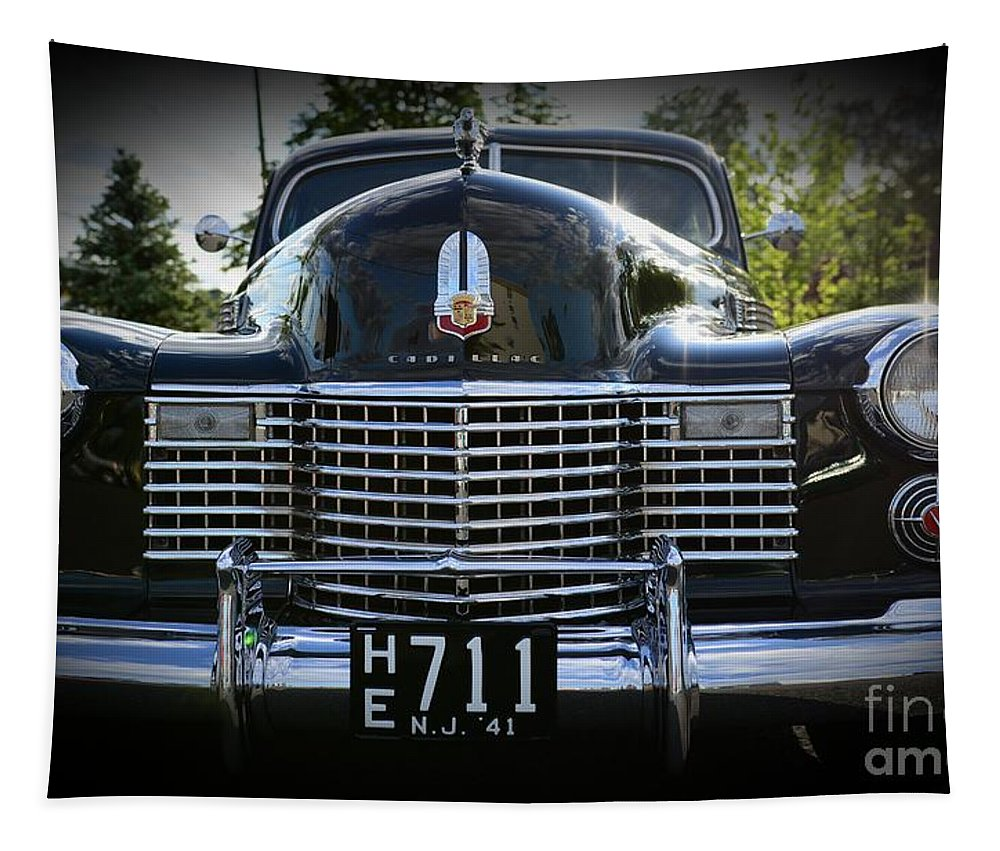 1941 Cadillac Tapestry featuring the photograph 1941 Cadillac Front End by Paul Ward