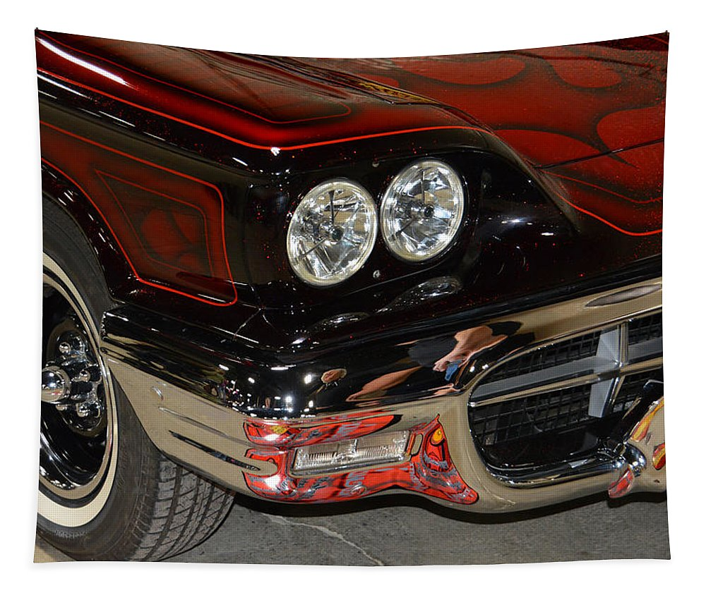 Ford Tapestry featuring the photograph 1948 Ford Thunderbird by Mike Martin