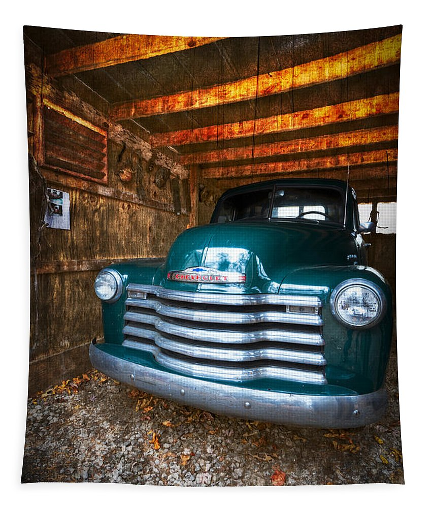'50 Tapestry featuring the photograph 1950 Chevy Truck by Debra and Dave Vanderlaan