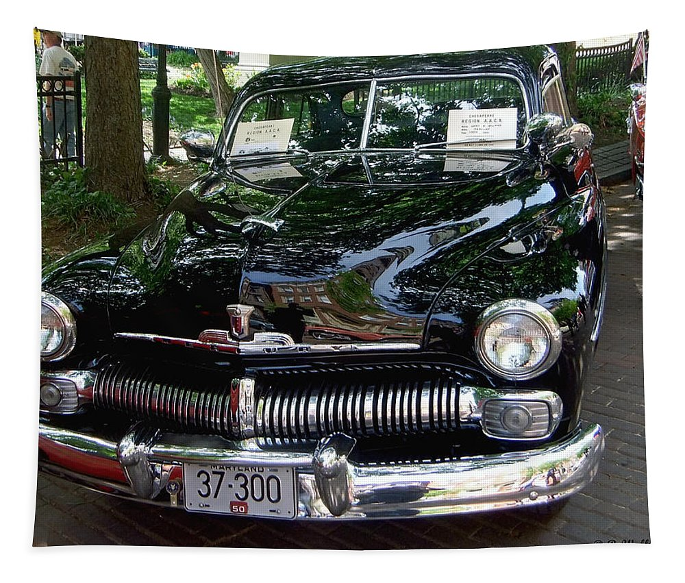 2d Tapestry featuring the photograph 1950 Crysler Mercury by Brian Wallace