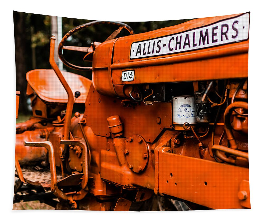 Allis-chalmers Tapestry featuring the photograph 1950s-vintage Allis-chalmers D14 Tractor by Jon Woodhams