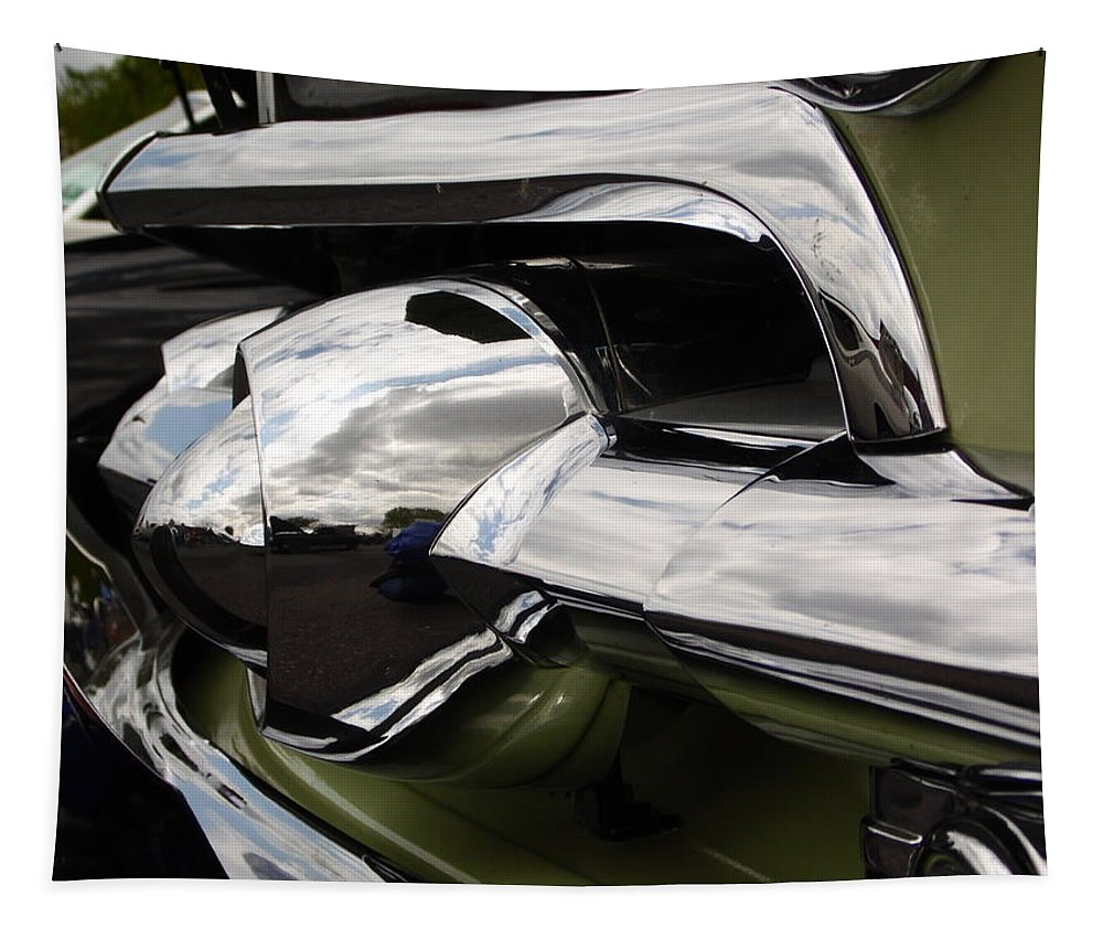 Cars Tapestry featuring the photograph Old Car Grille by Karl Rose