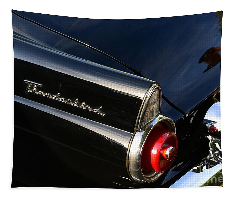 Paul Ward Tapestry featuring the photograph 1955 Ford Thunderbird by Paul Ward