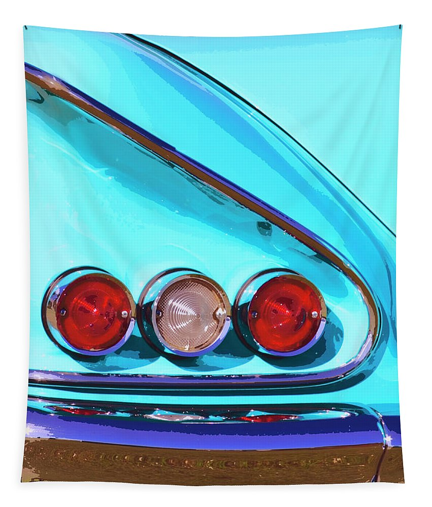 Palm Springs Tapestry featuring the photograph 1958 Impala Palm Springs by William Dey