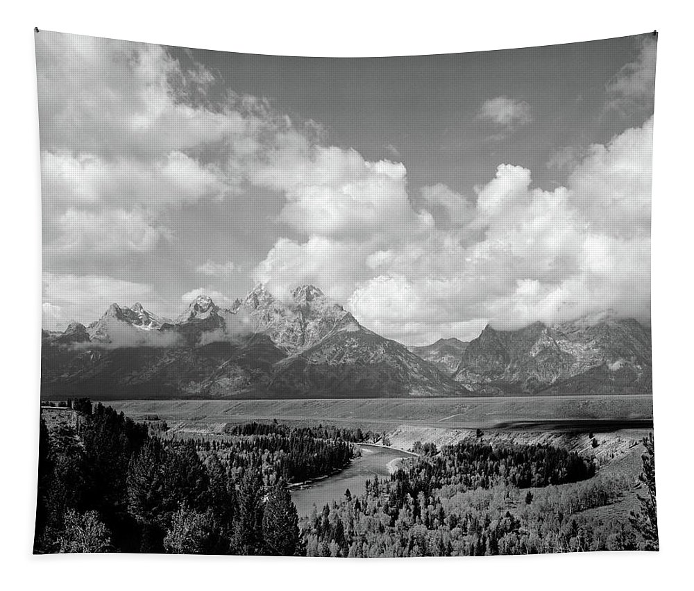 Photography Tapestry featuring the photograph 1960s Snake River Bend In Grand Teton by Vintage Images