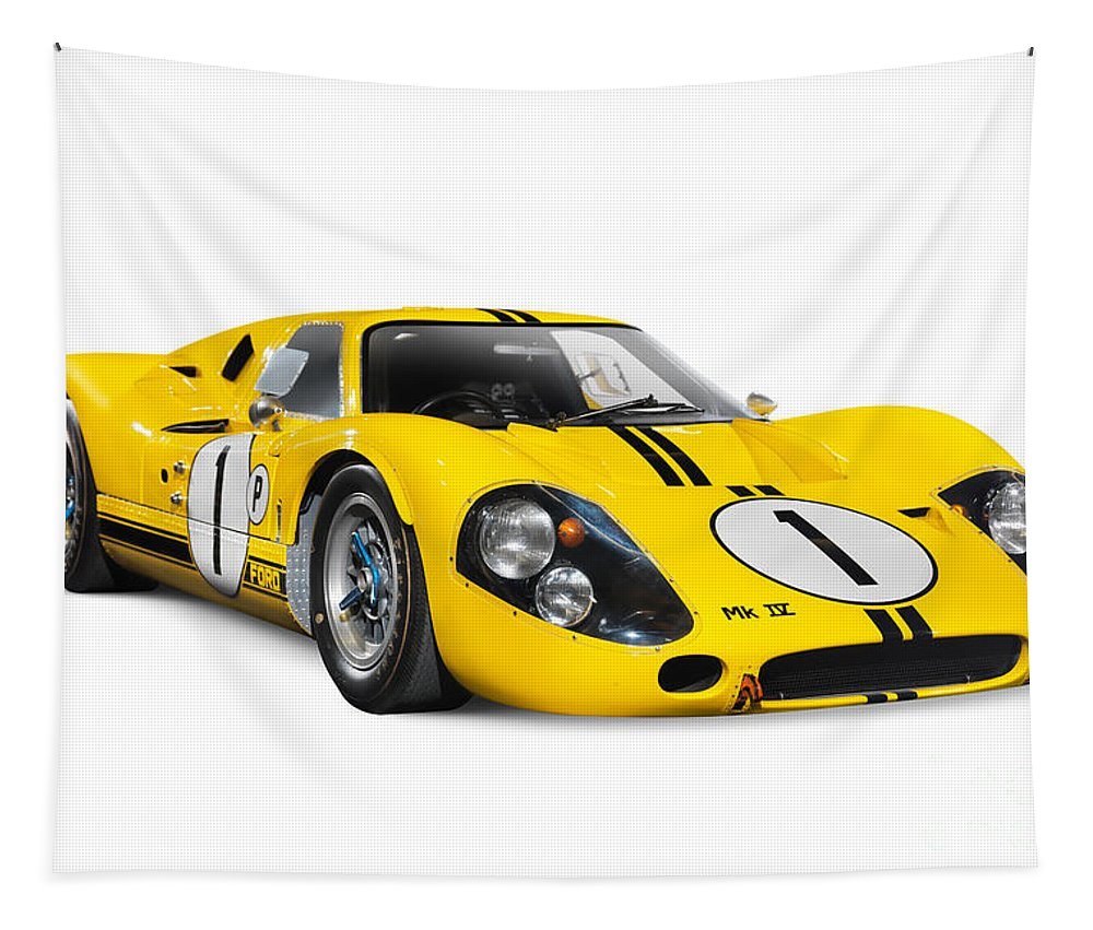 Sports Car Tapestry featuring the photograph 1967 Ford Gt 40 Mk Iv by Oleksiy Maksymenko