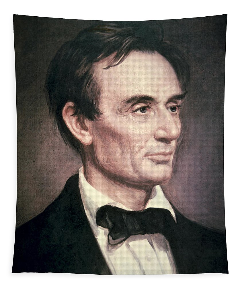 Statesman Tapestry featuring the painting Abraham Lincoln by George Peter Alexander Healy