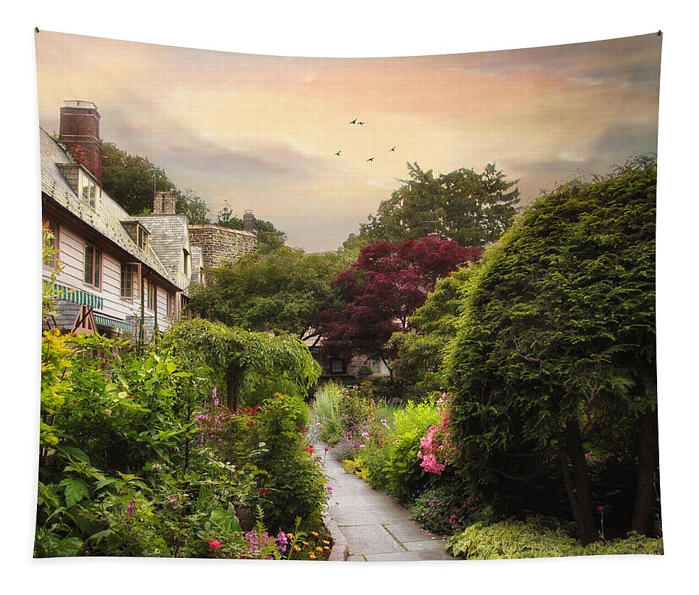 Spring Tapestry featuring the photograph An English Garden by Jessica Jenney