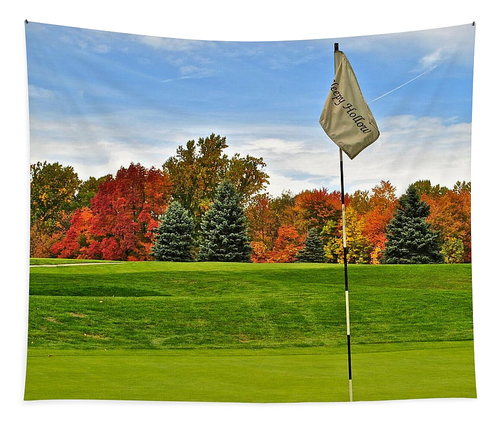 Autumn Tapestry featuring the photograph Autumn Golf by Frozen in Time Fine Art Photography