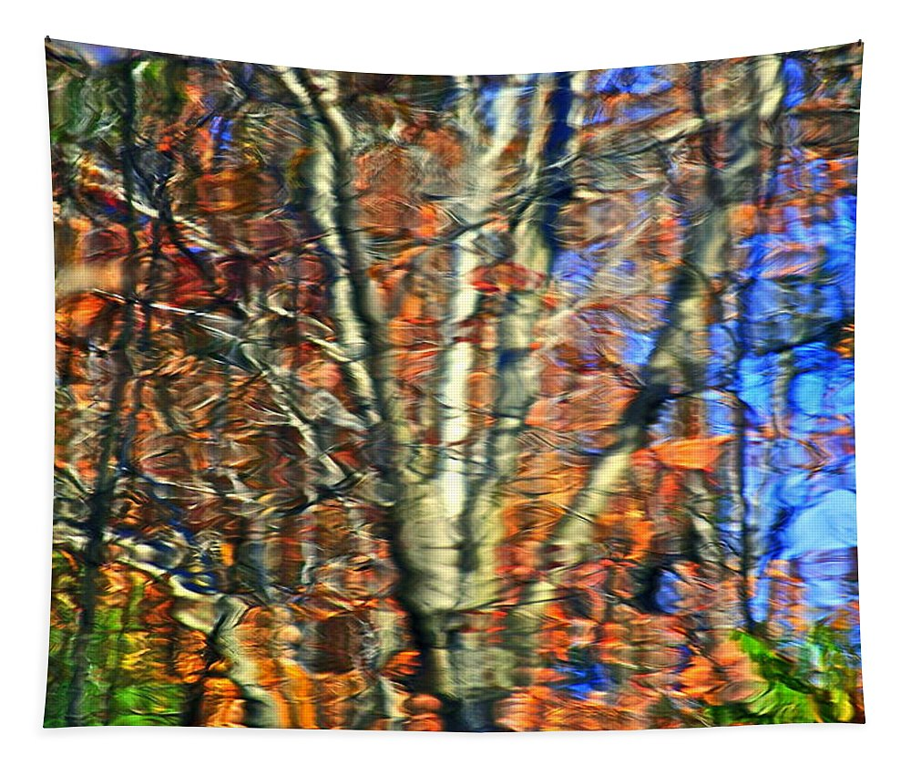 Autumn Tapestry featuring the photograph Autumnal Abstracious by Frozen in Time Fine Art Photography