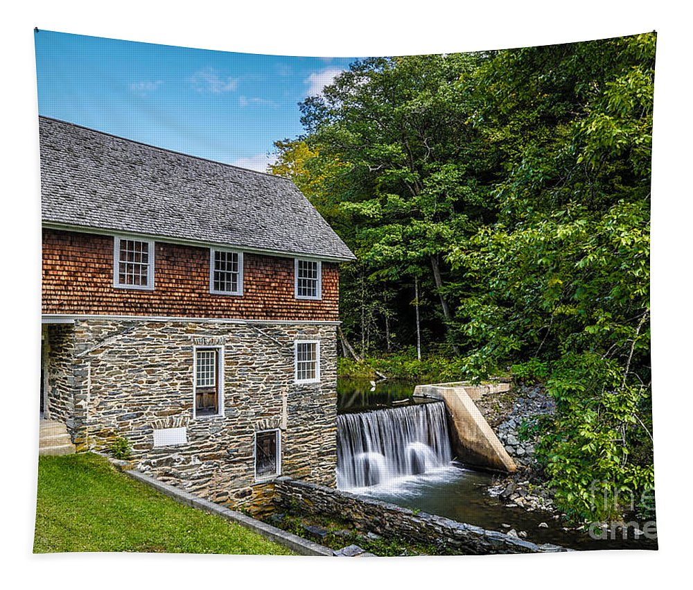 Mill Tapestry featuring the photograph Blow Me Down Mill Cornish New Hampshire by Edward Fielding