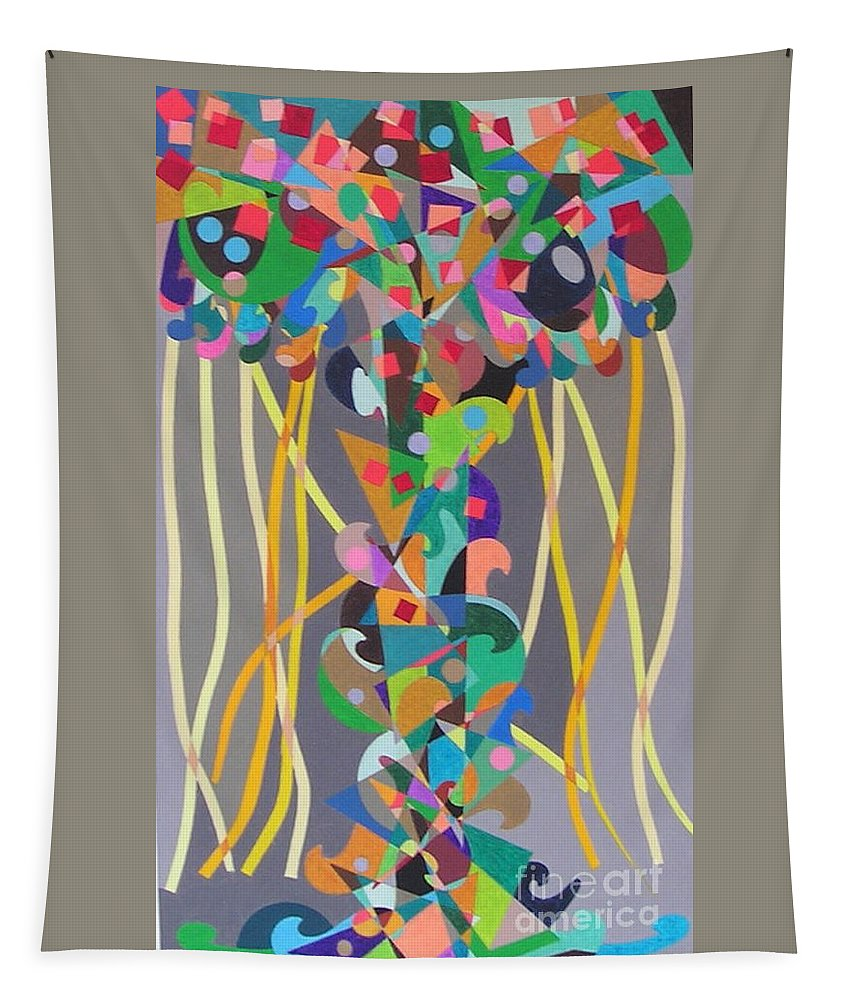 Landscape Tapestry featuring the painting Carnival by Allan P Friedlander