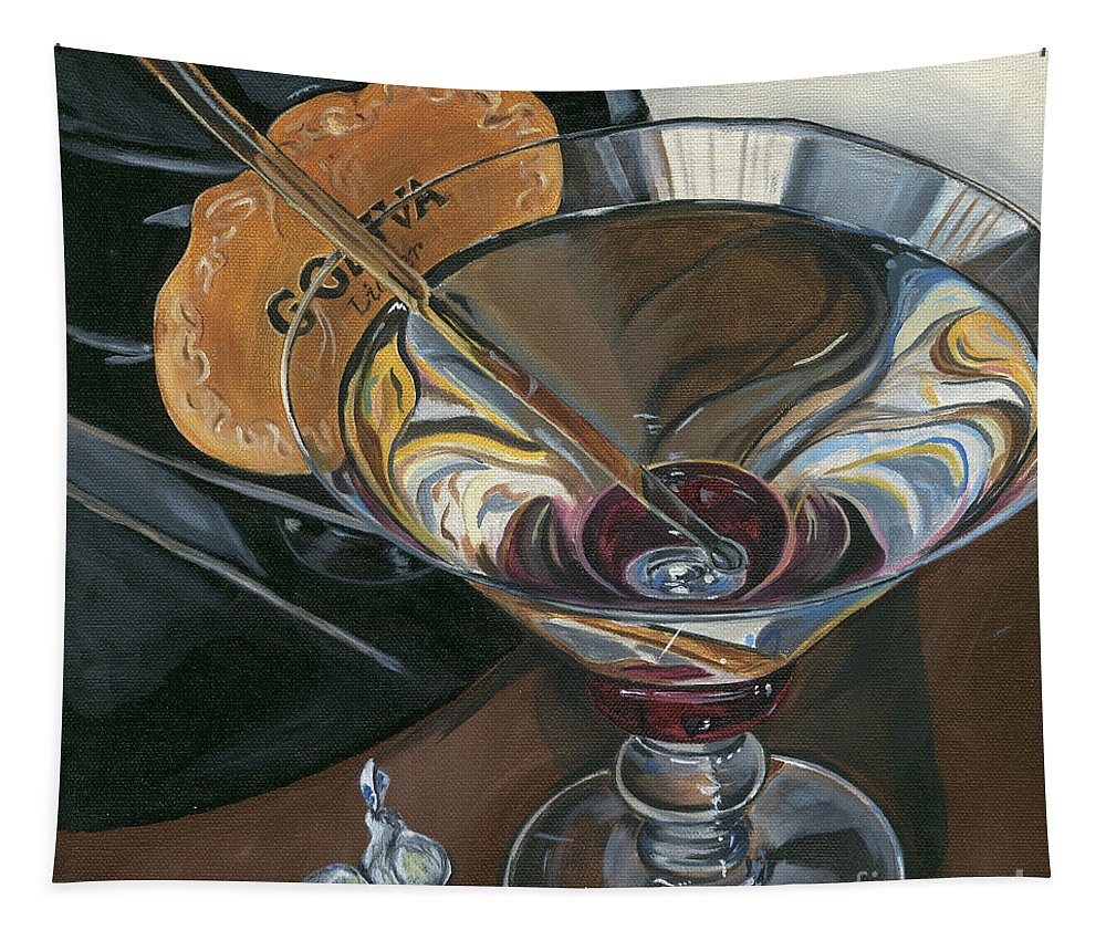Martini Tapestry featuring the painting Chocolate Martini by Debbie DeWitt